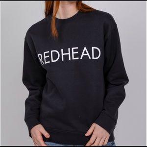 "Brunette The Label ""REDHEAD"" Black Sweatshirt M/L"